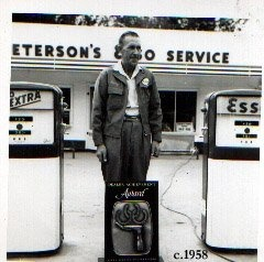 Harry Peterson built and owned Peterson's Esso Service, Highway 16, Prince George, BC