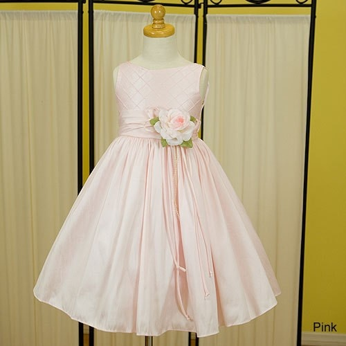 Sleeveless Quilted Bodice And Full Skirt - Pink - Shop by Color