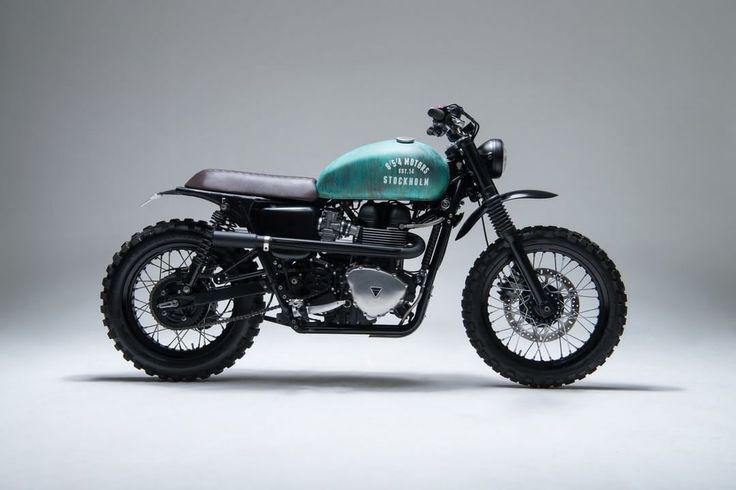 "Triumph Scrambler ""T10"" by 654 motors #motorcycles #scrambler #motos | caferacerpasion.com"