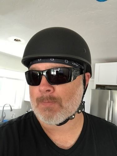 """Today's Featured WSB Helmet Review - Real Reviews from Real Customers  """"Love the look, fit, and quick release straps. Awesome helmet for a big guy and no more mushroom head.  I've been looking to replace my old helmet for a while with no success. I found this helmet on the website but had some reservations ordering any helmet online with the size of my head. The website provided great pics, reviews to alleviate some of my concerns, and accurate sizing chart. Well ... I can say I have now…"""