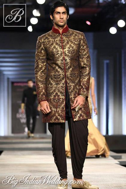 Shantanu Nikhil groom's collection 2013, men's wedding attire, grooms indo western