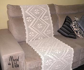 Manta para sof em croch croch pinterest - Manta para sofa ...