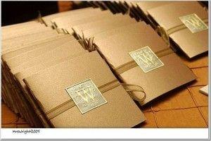 Envelopes para convites de casamento em dourado | Siga estas 10 dicas para uma escolha de convites de casamento perfeitos! | Wedding invitations
