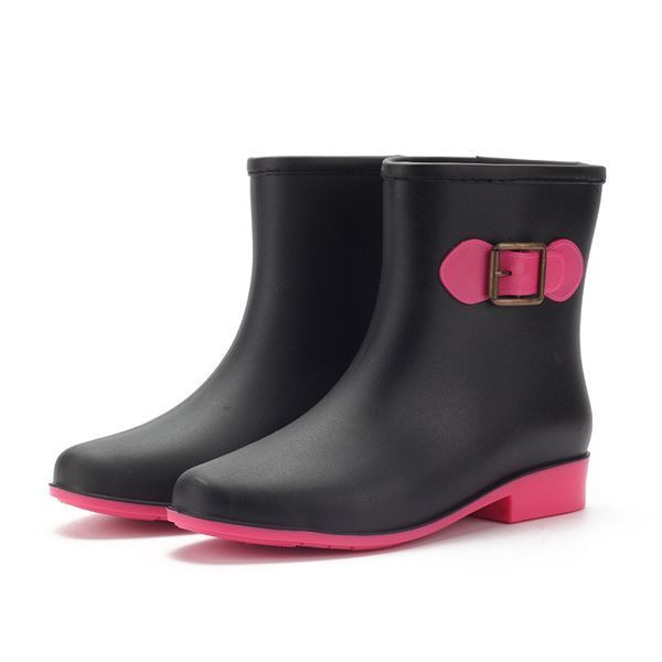 Women rain boot casual waterproof non-slip slip on ankle short boots g bootsqm.dat #boots #8 #in #1 #recovery #oil #boots #construction #boots #e #voucher #boots #w #fringe