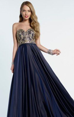 Strapless Beaded Gown by Alyce Prom 6722