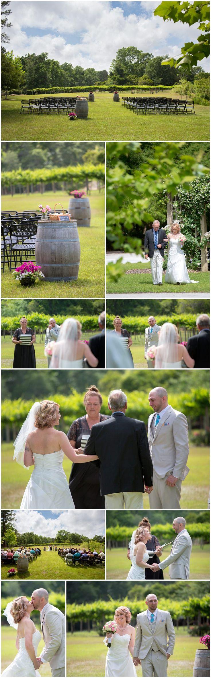 beach wedding in new jersey%0A Wedding Ceremony at La Belle Amie Vineyard   Myrtle Beach