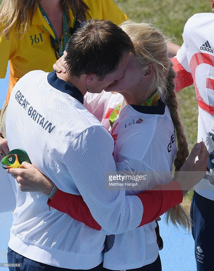 A couple of the Great Britain rowing team is seen on Day 8 of the Rio 2016 Olympic Games at the Lagoa Stadium on August 13, 2016 in Rio de Janeiro, Brazil.