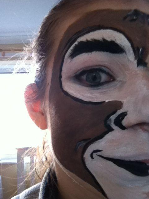 Monkey Face Paint Face Painting Pinterest Paint