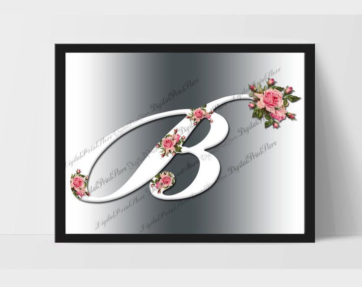 Roses Alphabet Print, Initial Print, Nursery Wall Art, Nursery Decor, Nursery Wall Letters, Initial Printable, Monogram Baby,Wedding Clipart by DigitalPrintStore on Etsy