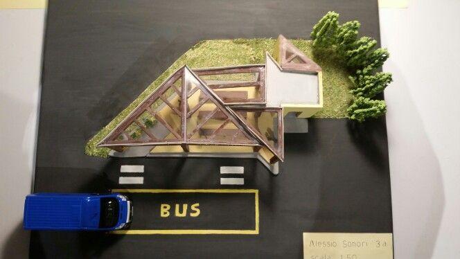 Modellino  progetto pensilina autobus