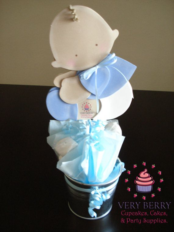 6 Baby Boy  Centerpieces by VeryberryParty on Etsy, $90.00