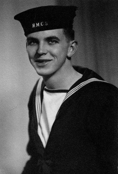 Jack McCarst in Royal Canadian Navy uniform.
