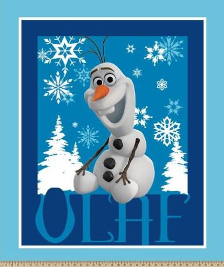 Olaf, Disney Frozen Fabric, Frozen Panel, Olaf Panel, Frozen Character Fabric…