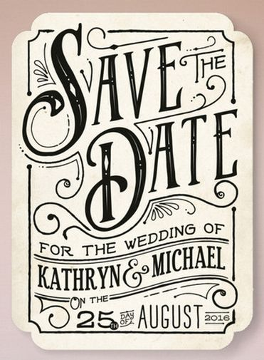 Vintage Meets Modern #stationery #wedding