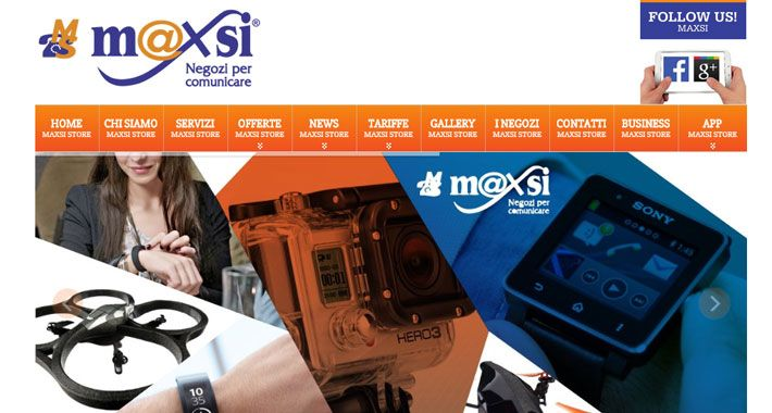 Nuovo sito web multi-store e mobile responsive, realizzato in ottica SEO per cliente leader nella telefonia a Firenze e provincia, Maxsi