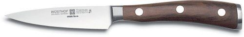 Wusthof Ikon 3-1/2-Inch Paring Knife with Blackwood Handle by Wusthof. $79.99. Measures approximately 6 by 1/2 by 1/2 inches; limited lifetime warranty. 3-1/2-inch paring knife with straight edge and pointed tip. Full-tang, riveted handle handcrafted from African Grenadill wood. Washing by hand recommended; made in Germany. Precision forged from a single piece of high-carbon stainless steel. A useful addition to any cutlery collection, this paring knife by Wustho...
