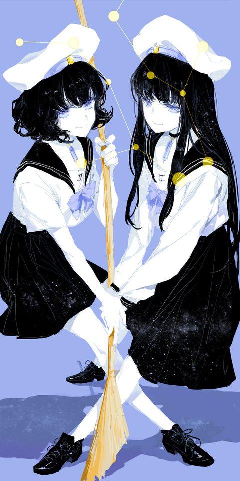Anime Characters Gemini : Zodiac gemini chibi and anime pinterest