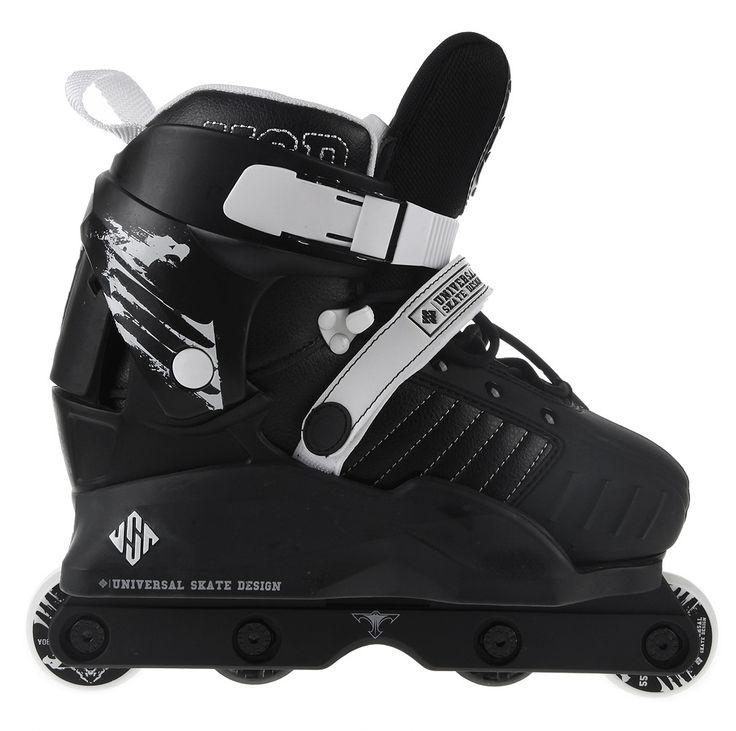 USD Kids Transformer Adjustable Complete Agressive Inline Skates - Black