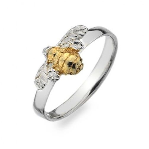 Sterling Silver Jewellery UK: Sterling Silver and Gold Bumblebee Ring
