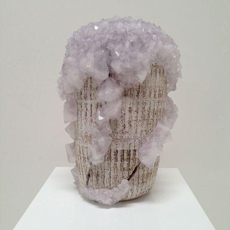 Lukas Wegwerth | Crystallization 28 | 2014, Ceramic, Crystals | Unique | Germany http://www.galleryfumi.com/Works/Vases-and-Vessels/