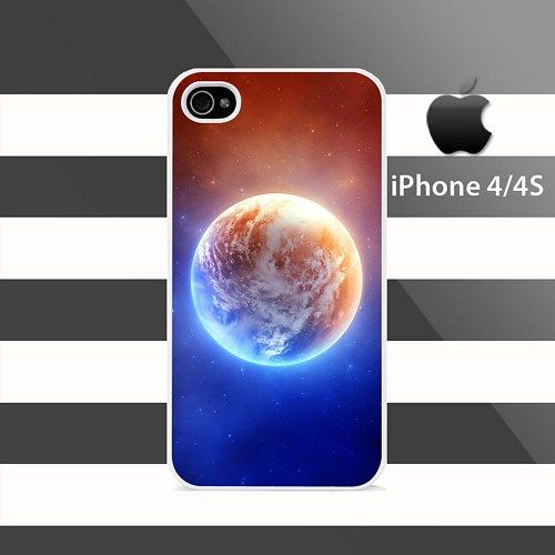 Cool Planet iPhone 4 4s Rubber Case Cover