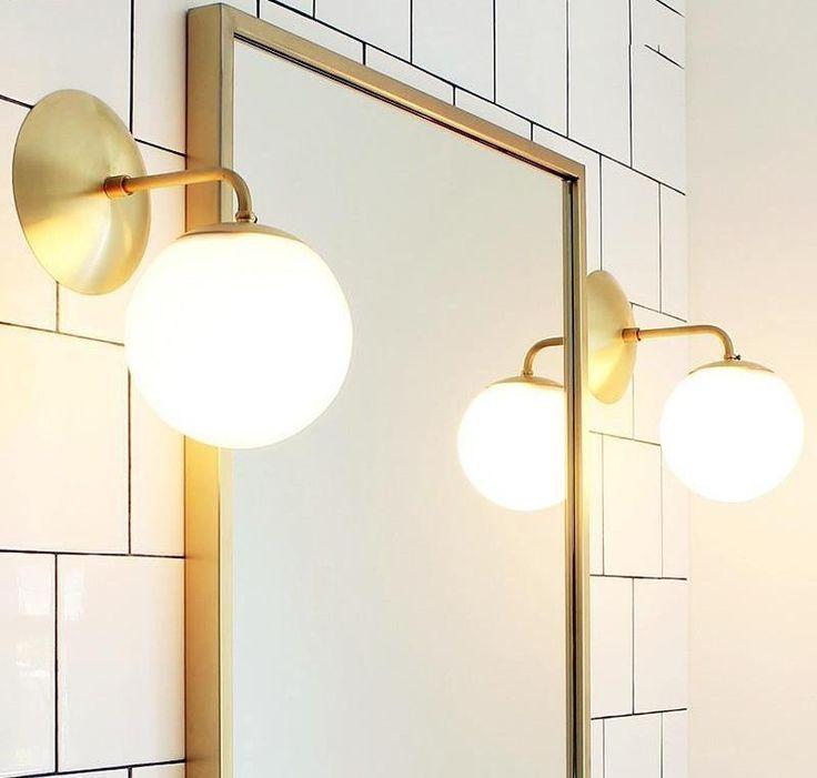Nordic Modern Stem Gold Led Wall Sconce Light Fixture