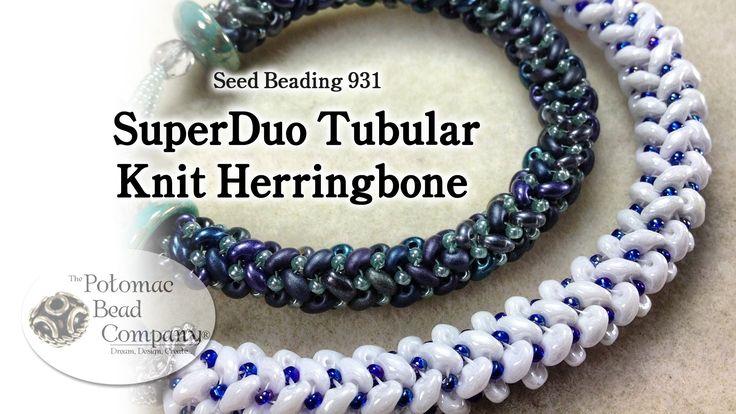Video: SuperDuo Tubular Knit Herringbone. #Seed #Bead #Tutorials