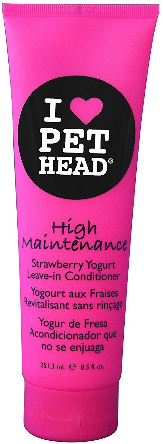 Because your pet deserves it, treat them to the Pet Head High Maintenance Leave-In Conditioner. Taking her from scruffy to fluffy with its special, luxurious formula, this conditioner leaves your pup looking better than ever. Just shampoo first and then apply the conditioner all over, and give her a blow dry for some extra glam. The delicious strawberry yogurt scent will be the envy the of the dog park! Basically, it's like a day at the spa for your deserving pup, and it's made in the USA…
