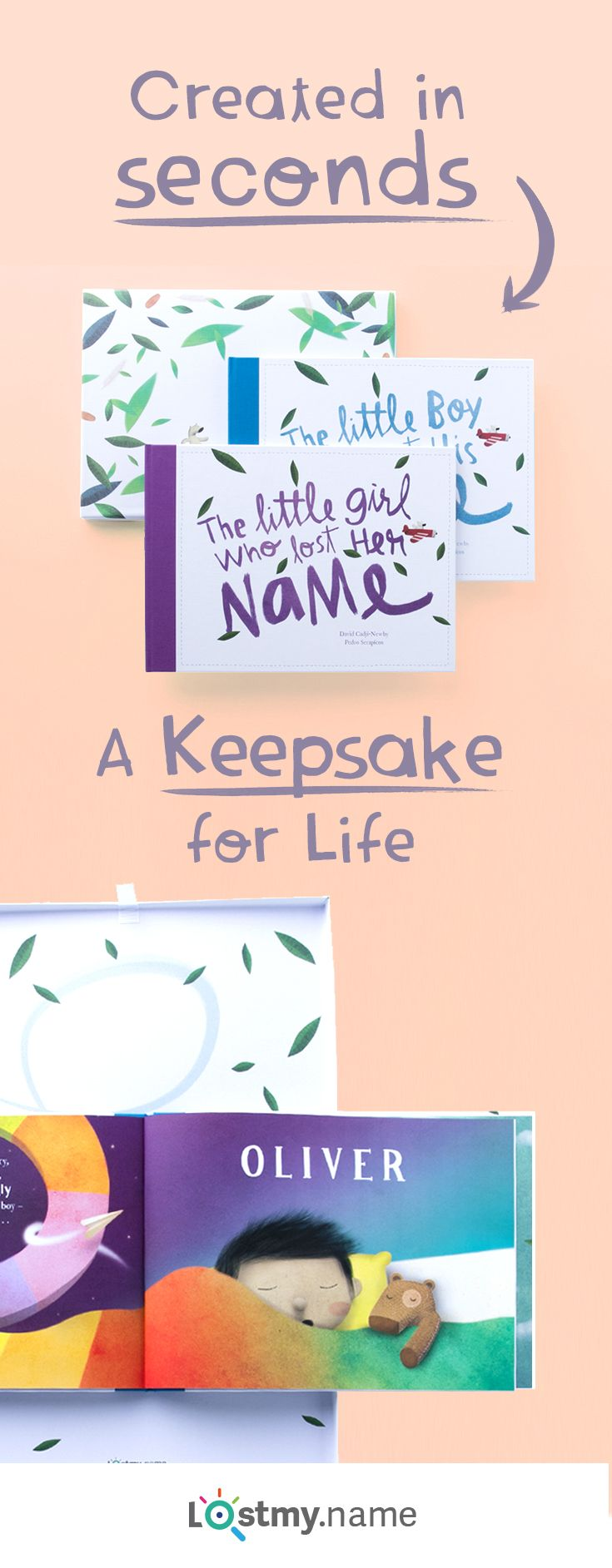 Call off the search for magical new baby keepsakes! Lost My Name is a special personalized storybook based on the letters of a little person's name. You can make it in moments and it's delivered anywhere in the world for free. http://newborn-baby-care.us