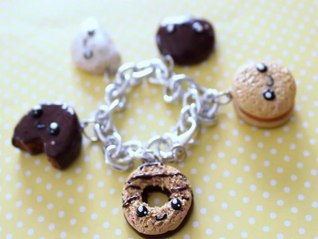 Diy Polymer Clay Girl Scout Cookie Charm Bracelet Super