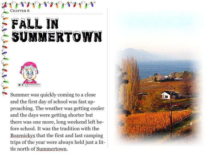 """Chapter 3 """"Fall In Summertown"""" (my personal images are used in my #audio #ebooks for #Children 3-7 and #Illustrative #Poetry, available at: https://itunes.apple.com/ca/book/twas-year-that-santa-quit/id1161025863?mt=11 and www.jamesagrove.ca)"""