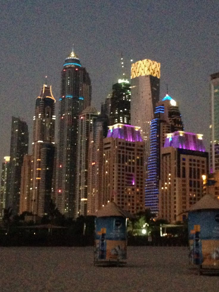Jumeirah Beach - Dubai by night