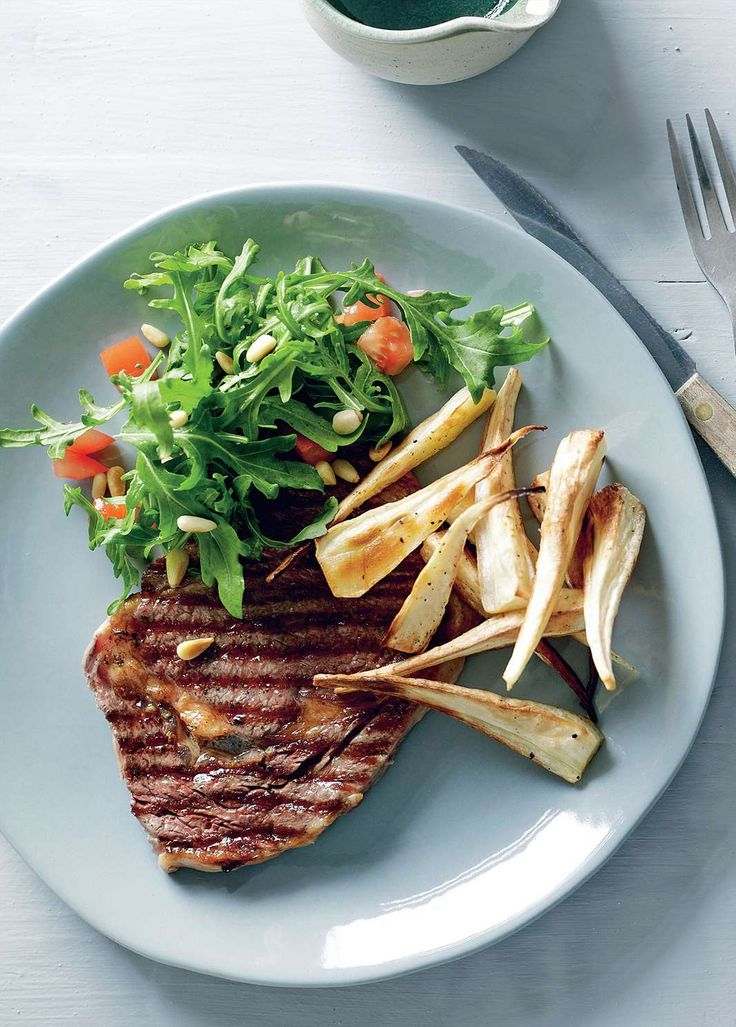 Minute steak with lemon rocket salad by Tiffiny Hall from Tiffiny's Lighten Up Cookbook | Cooked
