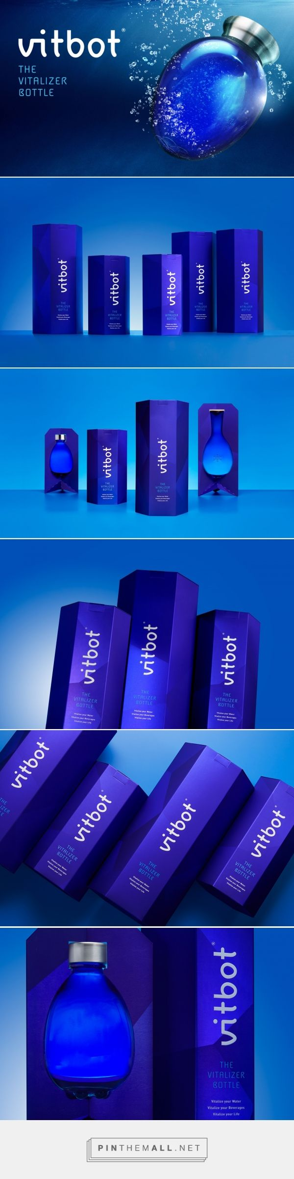 Vitbot reusable bottle packaging design by Vibranding - http://www.packagingoftheworld.com/2017/10/vitbot.html