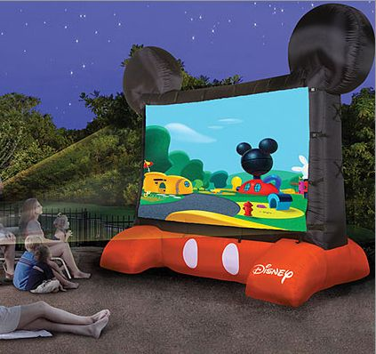 Disney-Themed Inflatable Outdoor Movie Screen   32 Outrageously Fun Things You'll Want In Your Backyard This Summer