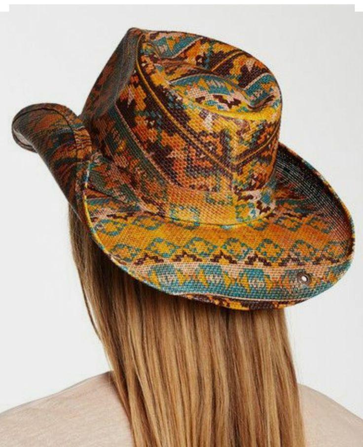 PETER GRIMM AZTEC Tribal DRIFTER HAT COWGIRL GYPSY COWBOY  nwt #petergrimm #CowboyWestern