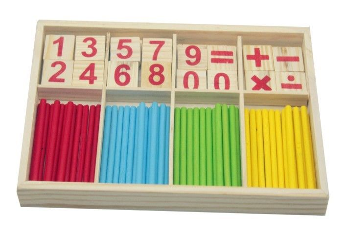 Multicolor kids math toy! Free shipping! Good gift for children! Hot Sale! Teach Beginners Wooden math early Learning Toys!