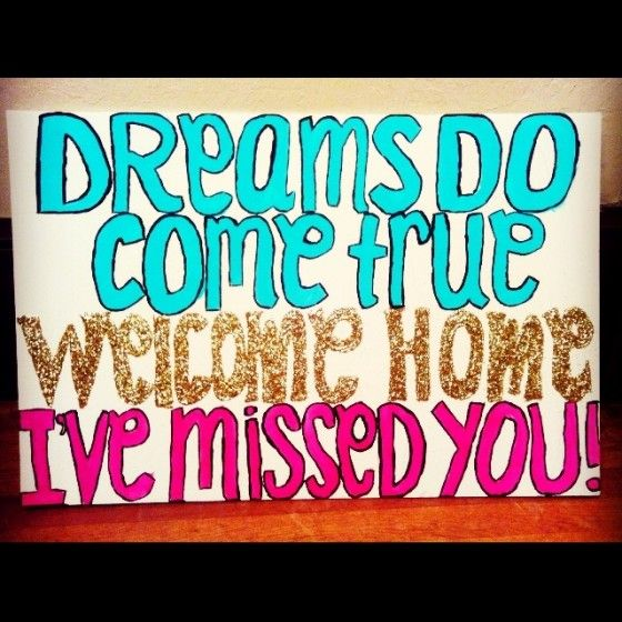 dreams come true i missed you sign