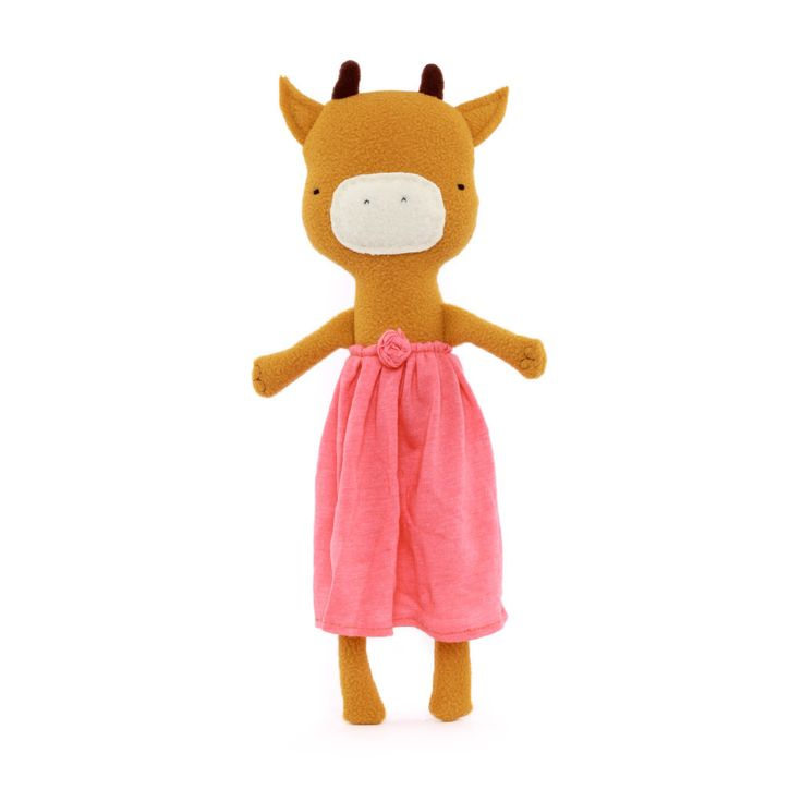 Long-legged Cow with Pink Skirt by Silly Dolls Canada