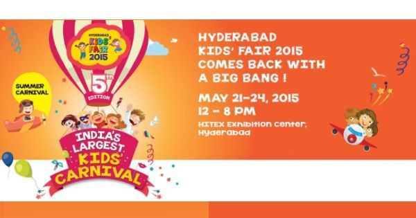 Hyderabad Kids Expo 2015 India's Largest Kids Carnival, opening its doors to the visitors between 21-24th May 2015 (12pm to 8pm) at Hitex Exhibition Center, Hyderabad.   #HyderabadKidsExpo2015 #Hyderabad2015Events  #KidsEvents2015