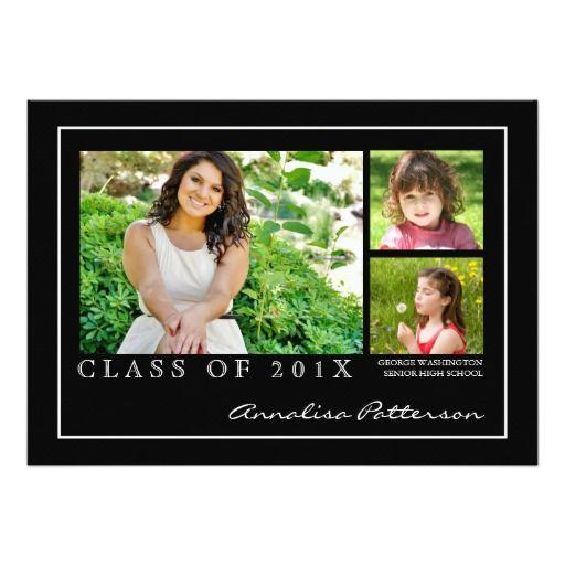 105 best elegant graduation invitations images on Pinterest
