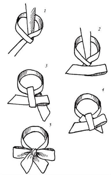 Как завязать бантик из ленточки на платье