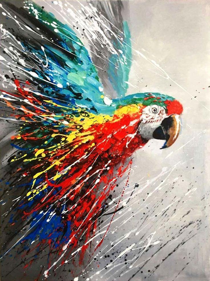 L'aquila   Misure: 60x80  Hand painted prints
