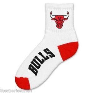 Chicago Bulls Team Logo Quarter Sock
