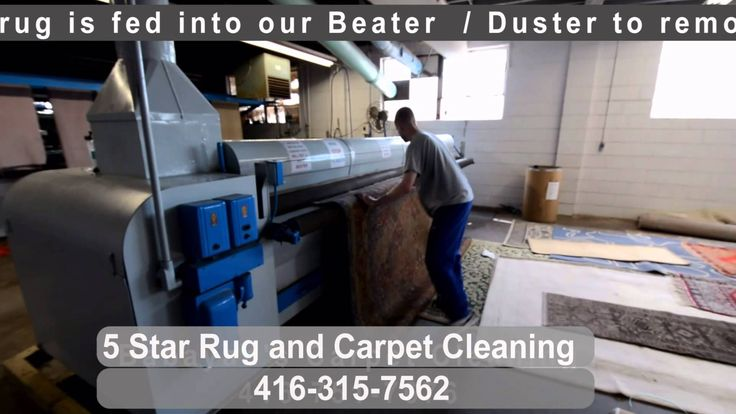Pre washing rug at plant, by 5star.cleaning in Toronto