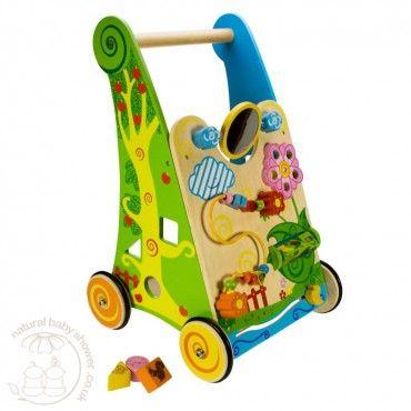 BigJigs Wooden Activity Baby Walker www.naturalbabyshower.co.uk/bigjigs-wooden-activity-baby-walker.html