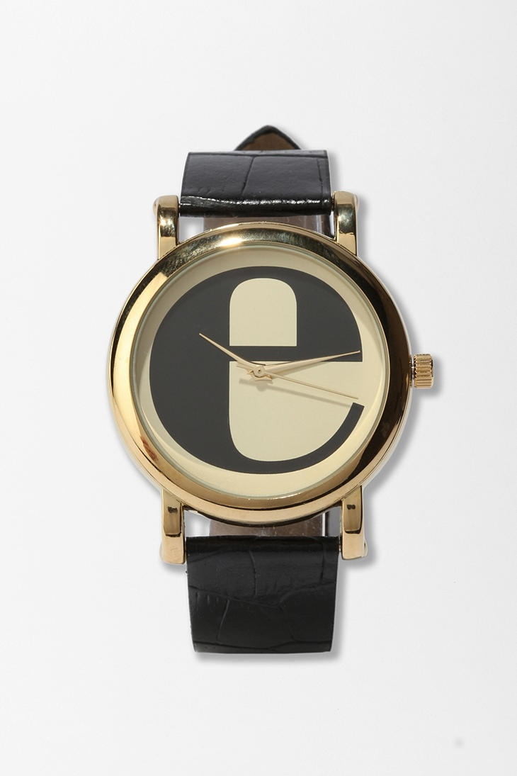 Typewriter initial watch, Urban Outfitters $24