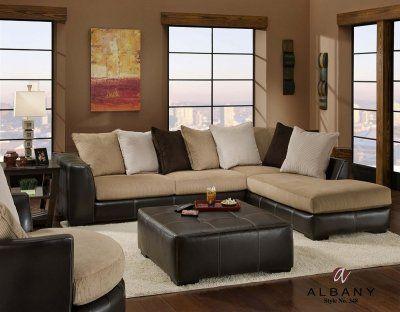 Two Tone Modern San Marino Sectional Sofa W Optional Items Living Room