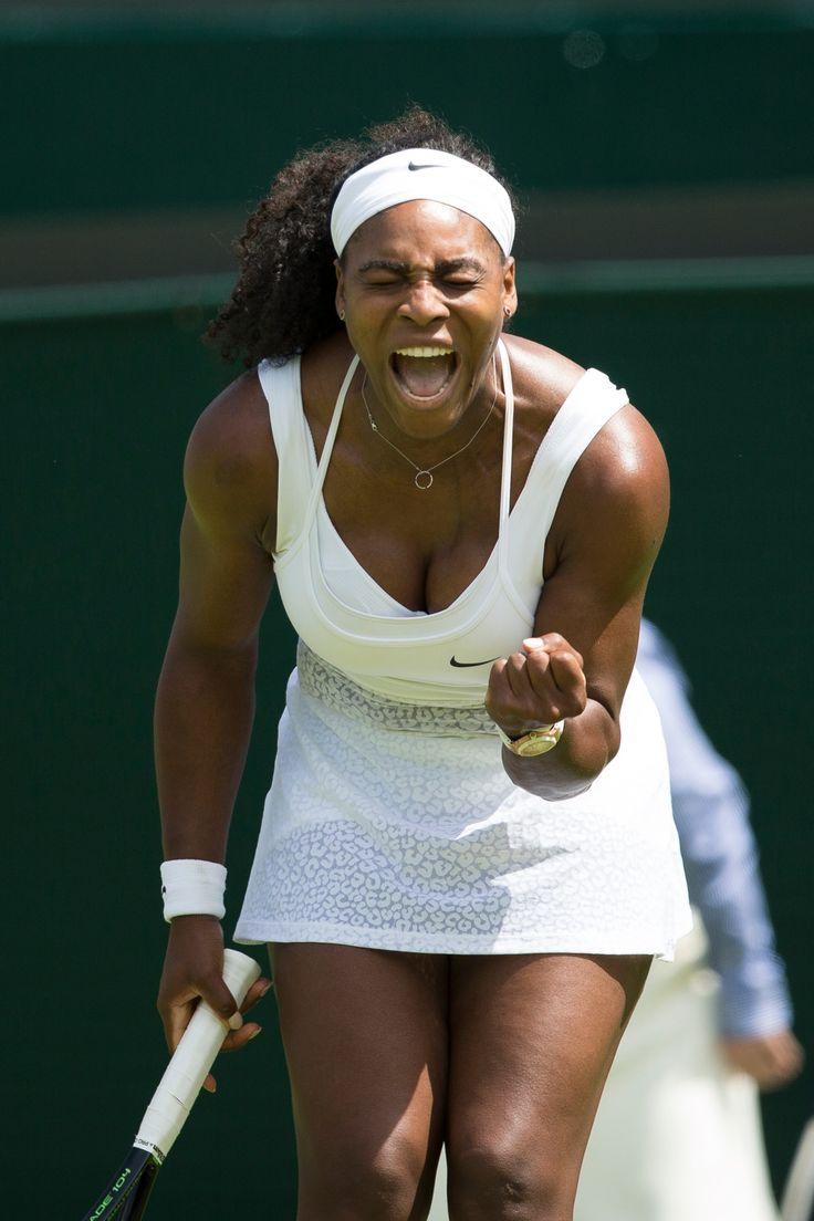 Wimbledon 2015: Serena Williams celebrates during her 6-4, 6-1 win over Margarita Gasparyan