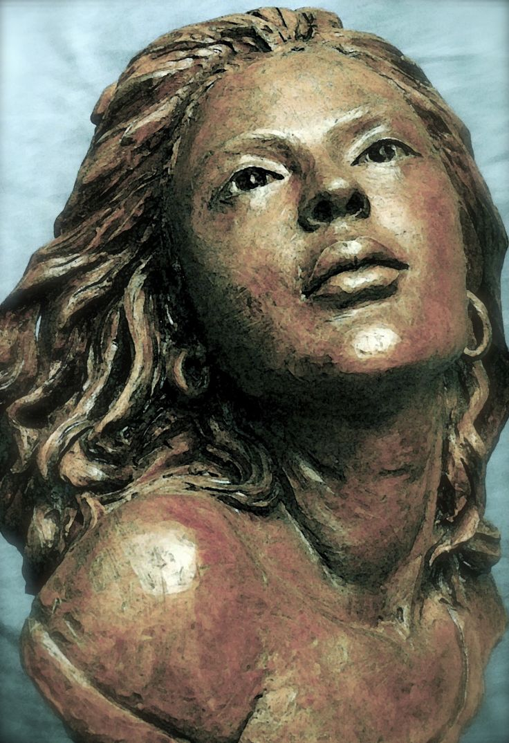A Friend of a Friend- Beautifully Composed. #PortraitSculpture